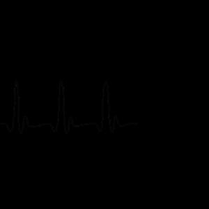 EKG HERZLINIE BABY schwarz