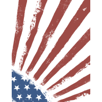USA Sonnenaufgang Flagge