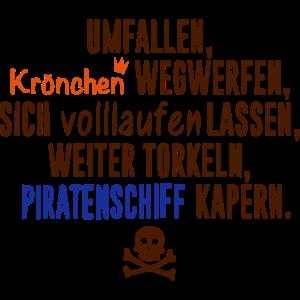 Krönchen vs Piratenschiff