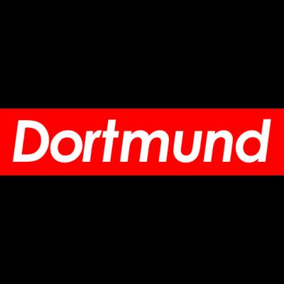 DORTMUND - Klassischer Rot-Weiß Schriftzug Dortmund im -Style. - party,fun,ruhrpott,stimmung,skate,stadt,style,leidenschaft,rotweiß,liebe,geschenk,geburtstag,minimalistisch,design,Dortmunder,fan,mode,Dortmund,hipster,mitbringsel,trend,skateboard,lieben,Fußball