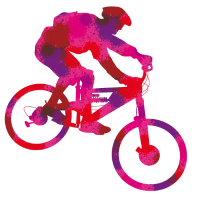 farbiger Biker