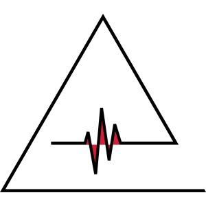 Herzschlag MNML Beat Dreieck Minimalistisch Waves