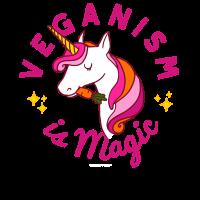Vegan Unicorn TShirt - Veganism is Magic (Pink)