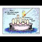 Geburtstagskerze - er