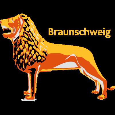 BraunschweigLoewe - Grafische Darstellung des Burglöwen, urheberrechtlich geschützt - Burglöwe,Löwe,Wappentier,Eintracht,Braunschweig,Stadt,Wappen