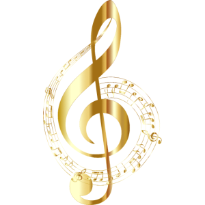 musiknote musik goldener notenschlüssel note gold