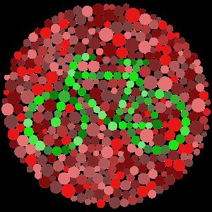 Farbenblind Fahrrad rot