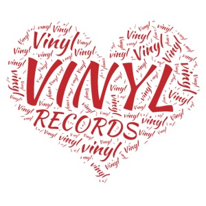 I Love Vinyl Records Heart
