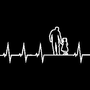 Vater und Tochter - Herzschlag