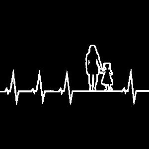 Mutter und Tochter - Herzschlag