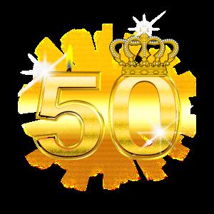 50 - Birthday - Queen - Gold