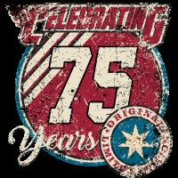 Celebrating 75 years original limited edition - birthday gift present RAHMNELOS