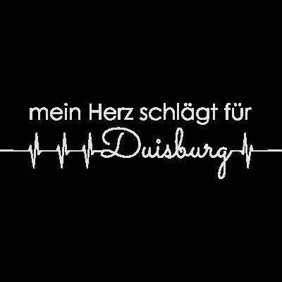 mein Herz schlägt für Duisburg - mein Herz schlägt für Duisburg - geschenk,puls,sinus,ekg,love,deutschland,stadt,duisburger,liebe,herzschlag,herz,Duisburg