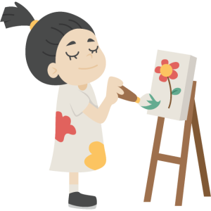 Malerei Mädchen