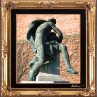 antike Statue mit Stil