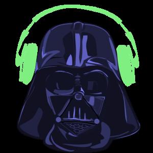 Darth Vader Overhead purple green