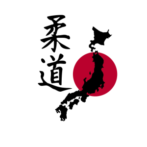 Judo mit der Karte Japans