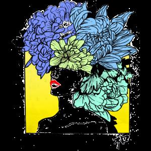 gelbes Blumen Porträt