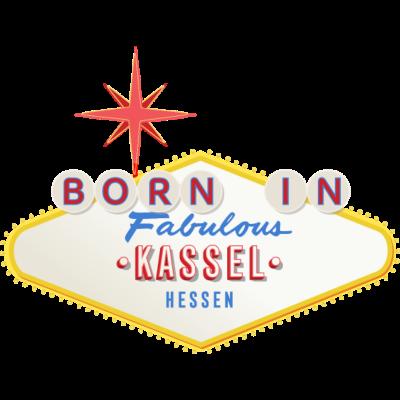 Born-in-Kassel - Du bist geboren in Kassel? Und Du liebst Deine Stadt Dann ist dies das passende Shirt für Dich, im coolen Las Vegas-Look! - Städteshirt,Stadt,Kassel,Geschenk,Geburtstagsgeschenk,Geburtstag,Geburtsstadt,Geboren in