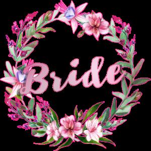 Bride Blumenkranz Hochzeit JGA