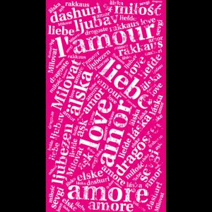 Cover pink - Love in verschiedenen Sprachen