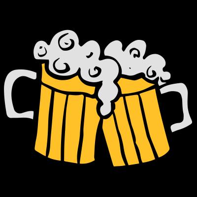 Gläser Bier -  - Brauerei,Alkohol,Ereignis,Bier,Cartoon,Nahrung,feiern,Schaum,Zeichnung,Fete,freedesigns17