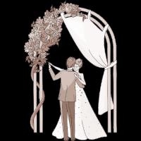 Hochzeits-Paar