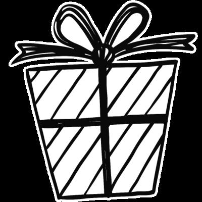 Geschenk -  - freedesigns17,Zeichnung,Symbole,Skizze,Präsent,Love,Jubiläum,Geburtstag,Celebration