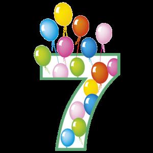 7 siebter Geburtstag Shirt
