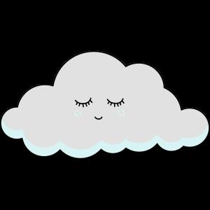 Schlaf Wolke mit Wimpern