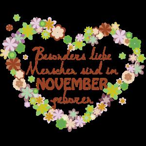 Blumenherz Geburtstag besonders im November