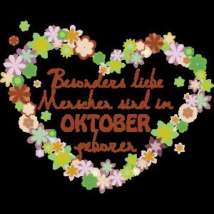 Blumenherz Geburtstag besonders im Oktober