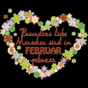 Blumenherz Geburtstag besonders im Februar
