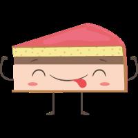 Freundliches Stück Kuchen