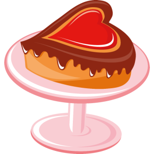 Romantischer Kuchen