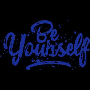 Be Yourself - blau