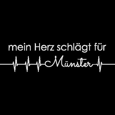 mein Herz schlägt für Münster - mein Herz schlägt für Münster - national,stolz,heartrate,ekg,cool,lustig,verschenken,schenken,geschenk,städte-shirt,stadt,liebe,lieben,i heart,i love,Herz,münsteraner,münster,mein Herz schlägt für Münster