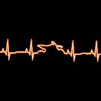 Motocross Heartbeat - Glow Orange