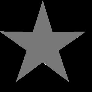 Stern mit Schlagschatten (Farbwechsel Möglich)