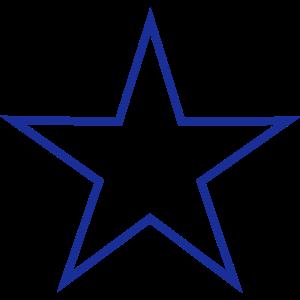 Stern Umriss 1 (Farbwechsel möglich)