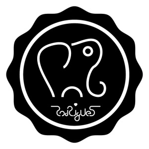 Elephanten siegel-schwarz