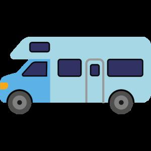 Blauer Camper
