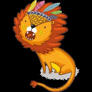 Löwe mit Federkrone