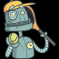 Roboter Tennis spielen
