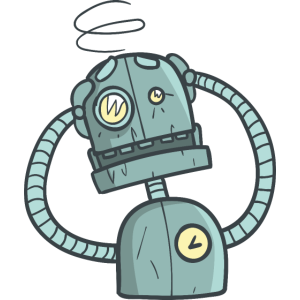 Verwirrter Roboter