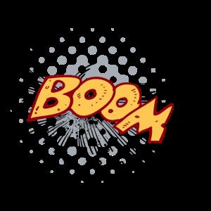 09 Boom png vectorstock 458955