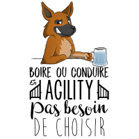 Trinken oder Fahren - Schäferhund