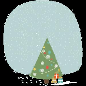 Schneeflocken Weihnachtsbaum