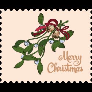 Frohe Weihnachten Mistel