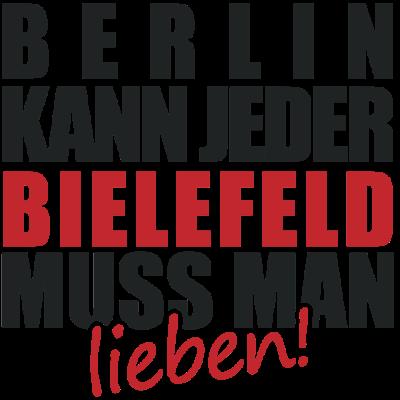 Berlin kann jeder BIELEFELD muss man lieben - Stadt, Lieben, Berlin kann jeder, Design, Land, Bundesland, Deutschland, Sprüche, Spruch, Lustig, deine stadt, Lokal, Shirt - lieben,deine stadt,Stadt,Sprüche,Spruch,Shirt,Lustig,Lokal,Lieben,Land,Deutschland,Design,Bundesland,Bielefeld,Berlin kann jeder,Berlin